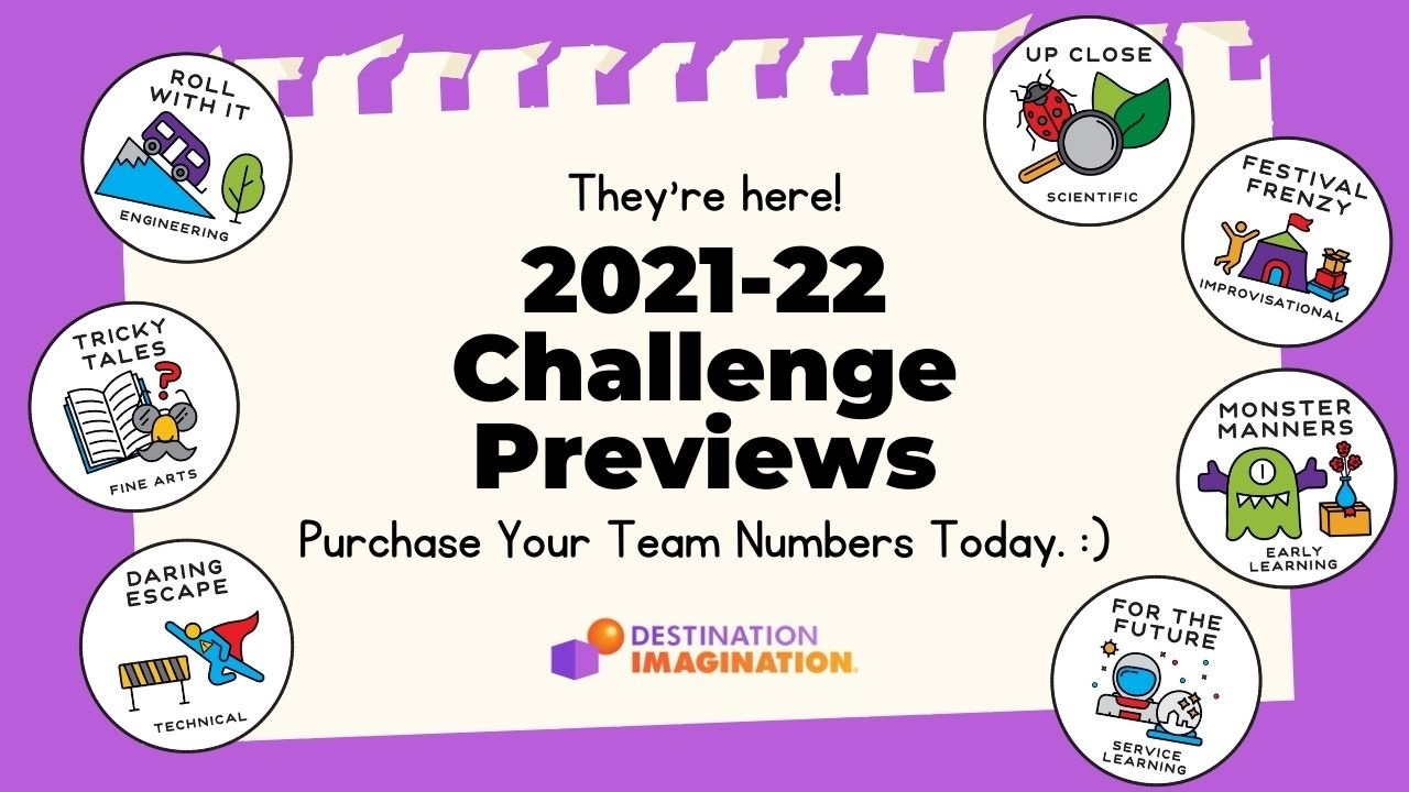 They're Here! Check Out Our 2021-22 Challenge Previews