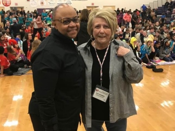 Michele Tuck-Ponder and Sue Shanks at the 2018 DI Texas Regional Tournament in Austin.