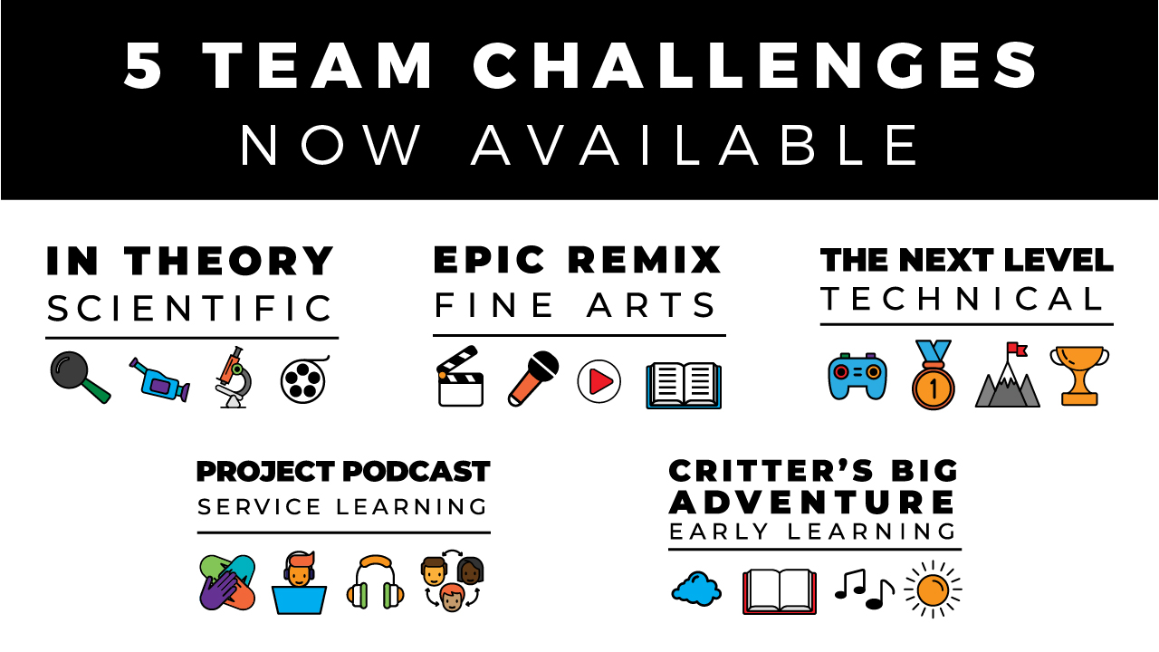5 Team Challenges Now Available!