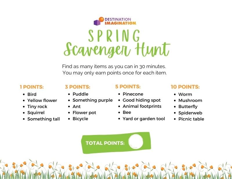 Download our printable Spring Scavenger Hunt